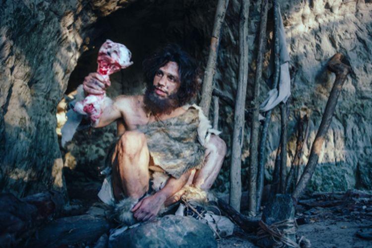 Ilustrasi manusia purba Homo sapiens