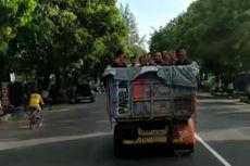 Viral Video Belasan Remaja Mandi Bareng di Bak Truk yang Berjalan, Sopirnya Perempuan