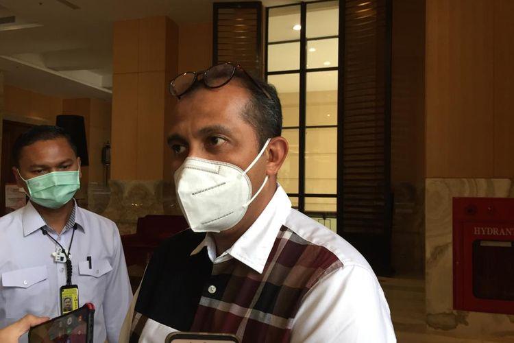 Wamenkumham Eddy saat ditemui di diskusi publik UU ITE di Kota Yogyakarta