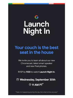 Poster peluncuran produk terbaru Google