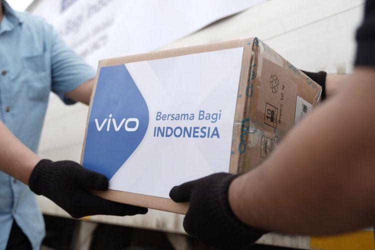 Donasi masker dari Vivo Indonesia.