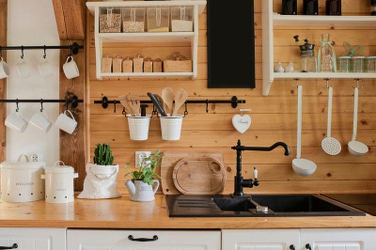 Ilustrasi dapur bernuansa vintage.