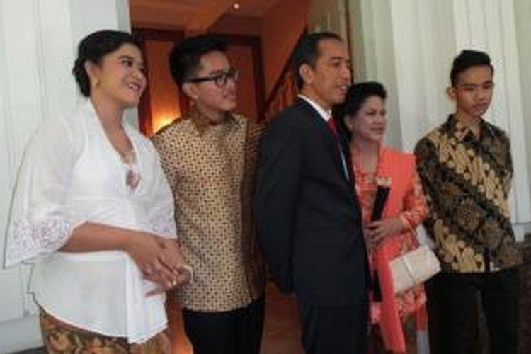 Presiden terpilih Joko Widodo dan keluarga, Senin (20/10/2014)