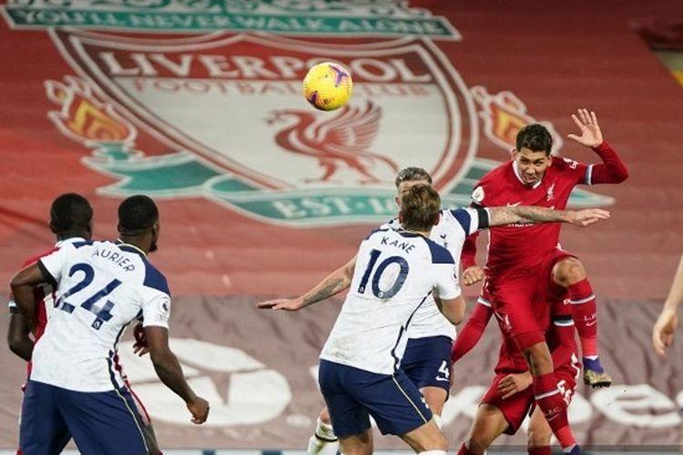 Hasil Liverpool Vs Tottenham, Tandukan Firmino Bawa The Reds ke Puncak  Halaman all - Kompas.com