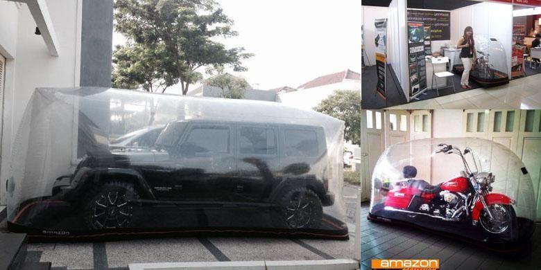 Salah satu jenis car cover yang bisa digunakan sebagai pelindung cat mobil, serta bagian tubuh lain kendaraan.