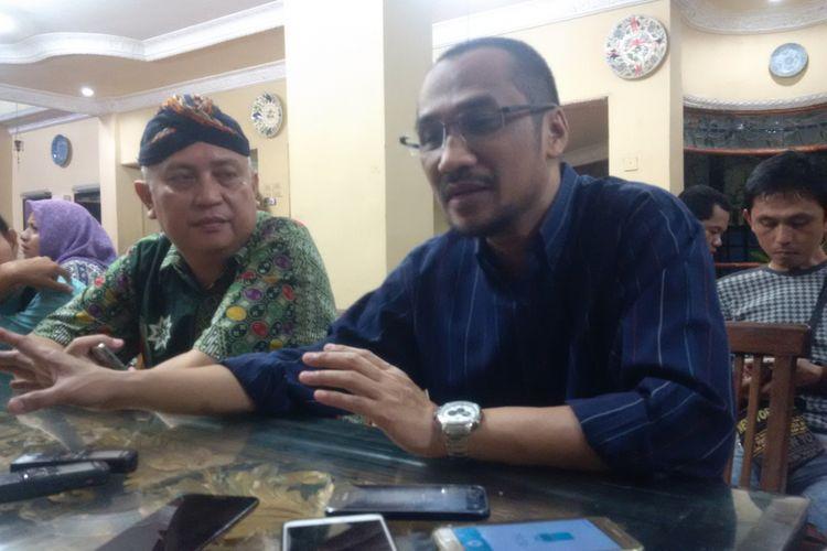 Abraham Samad saat berada di Palembang.