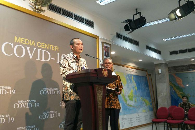 Plh Dirjen Imigrasi Jhoni Ginting di Kantor Presiden, Jakarta, Kamis (12/3/2020)
