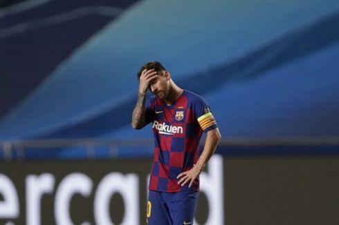 Getafe Vs Barcelona, Kala Lionel Messi Tersungkur ke Tanah