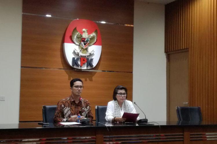 Juru Bicara KPK Febri Diansyah dan Wakil Ketua KPK Basaria Panjaitan