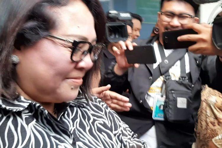Komedian Nunung di Pengadilan Negeri Jakarta Selatan, Senin (13/1/2020).