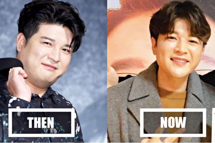 Shindong Super Junior yang telah berhasil turun 31 Kg hanya dengan menjaga pola makan dan tidur teratur.