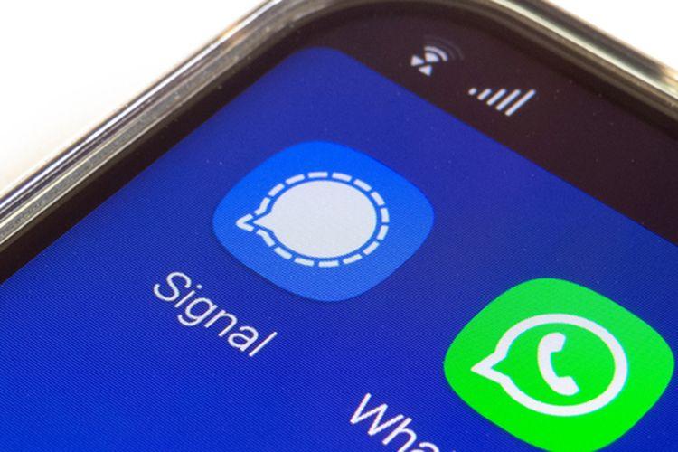 Ilustrasi Whatsapp dan Signal