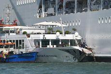 Kapal Pesiar Hilang Kendali dan Tabrak Dermaga di Venesia, Turis Berlarian