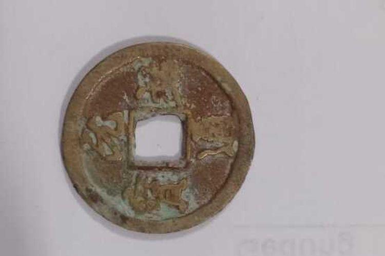 Uang koin kuno dari Dinasti Song yang ditemukan di Desa Sukosongo, Kecamatan Kembangbahu, Lamongan.