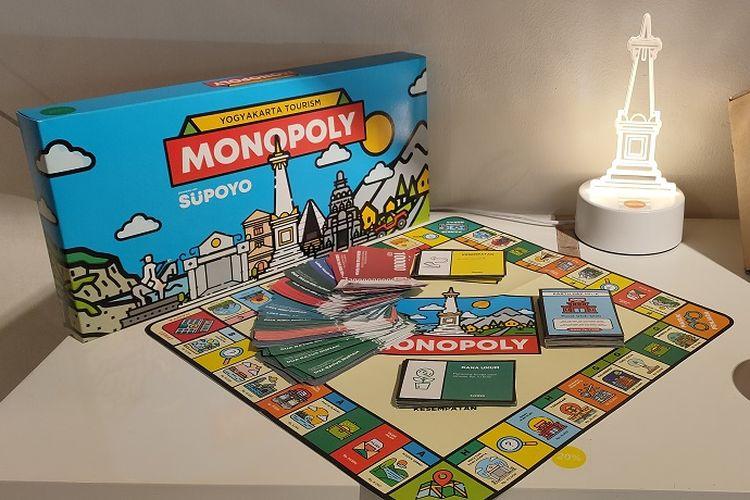 Mainan monopoli berdesain daerah dan tempat wisata di Yogyakarta dijual dengan harga Rp 59.000.