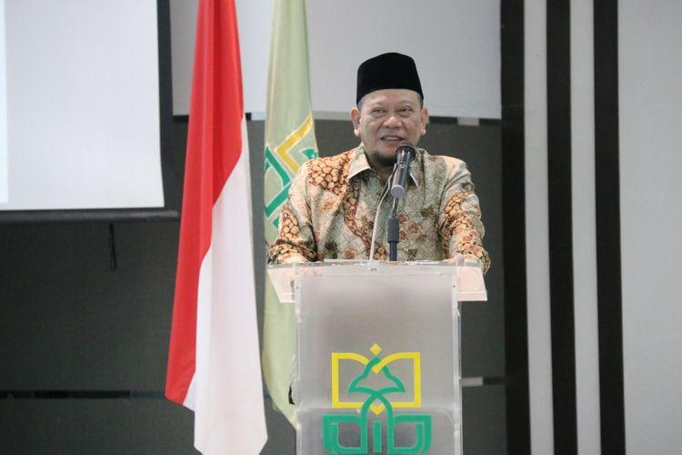 Ketua DPD RI La Nyalla Mahmud Mattalitti saat menjadi keynote speaker di IAIN Jember
