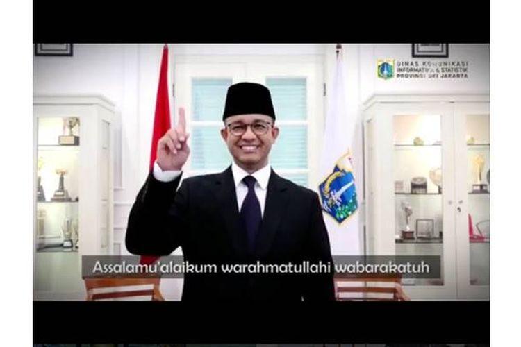 Gubernur DKI Jakarta Anies Baswedan mengunggah video ucapan Selamat Idul Fitri di akun Instagram miliknya. Uniknya, video itu tanpa suara karena Anies menggunakan bahasa isyarat.