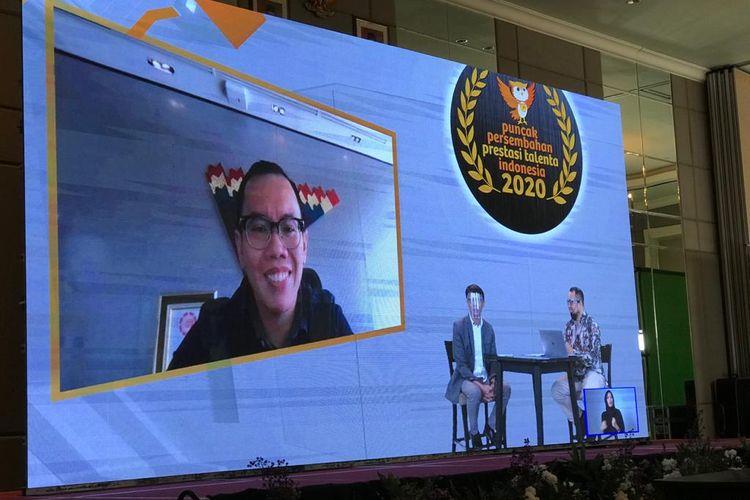 Fajrin Rasyid (Direktur Digital Business) Telkom yang juga Co-founder Bukalapak.dalam webinar bertajuk Millenial Achievement yang digelar Puspresnas pada 30 Desember sebagai bagian rangkaian kegiatan Puncak Persembahan Prestasi Talenta Indonesia yang juga berlangsung secara daring 28-30 September 2020.