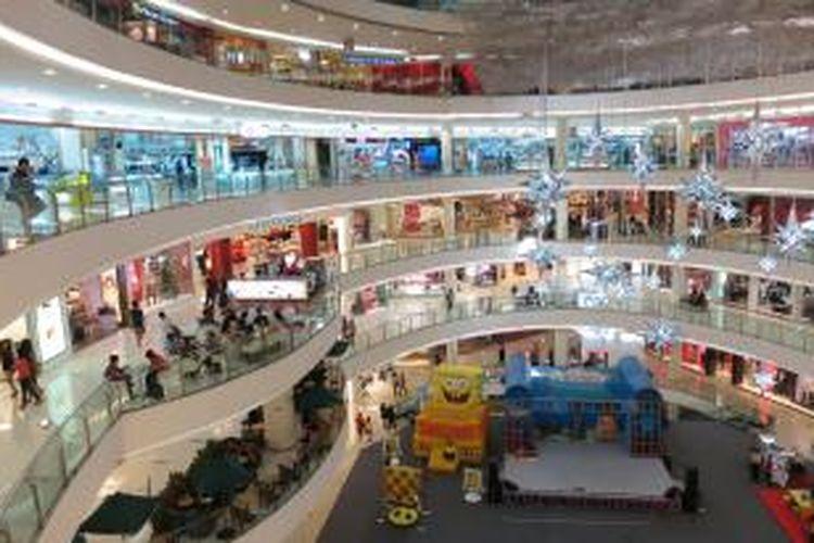 Suasana di salah satu pusat perbelanjaan di Jakarta Selatan.