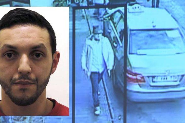 Mohamed Abrini, teroris yang ditangkap di Distrik Anderlecht, pinggiran Kota Brussels, Belgia, April 2016.