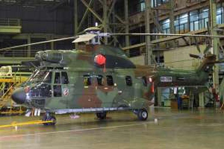 Helikopter EC725 Cougar yang dirakit oleh PT Dirgantara Indonesia di Bandung.