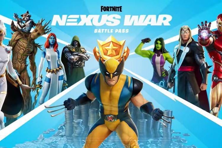 Ilustrasi Battle Pass musim ke-4 Fortnite