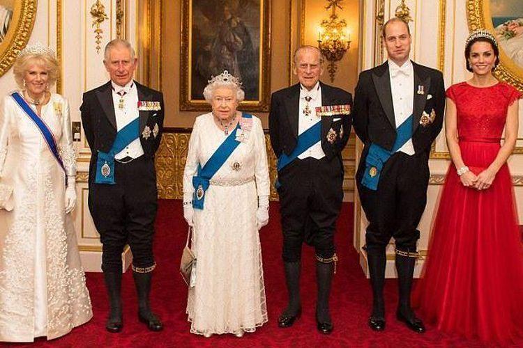Keluarga kerajaan Inggris.