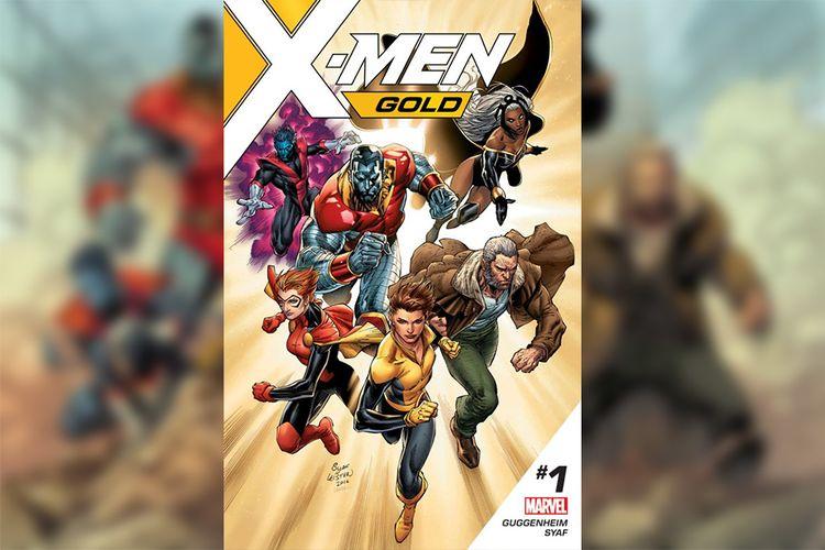 Cover komik X-Men Gold edisi pertama dari Marvel yang digarap oleh Ardian Syaf bersama penulis naskah Marc Guggenheim