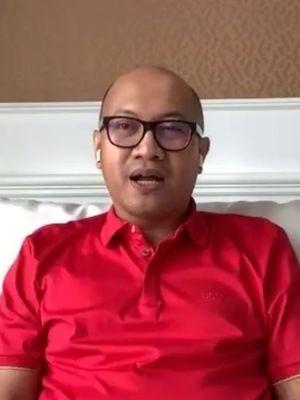 Direktur Utama Telkomsel, Setyanto Hantoro saat memaparkan kesiapan jaringan Telkomsel di momen RAFI 2020 lewat video conference CloudX, Selasa (21/4/2020).