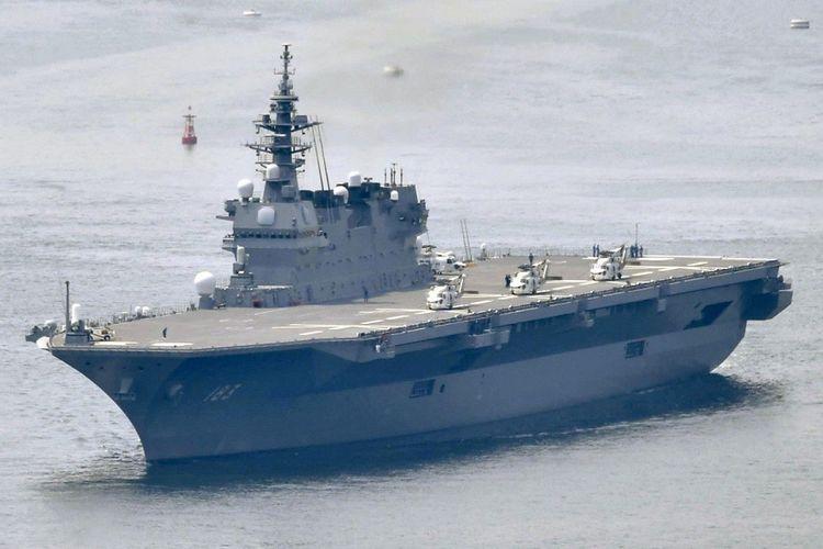 Kapal induk pengangkut helikopter Izumo milik Pasukan Bela Diri Maritim Jepang.