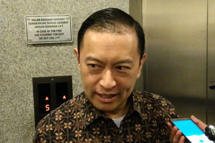 Kepala Badan Koordinasi Penanaman Modal (BKPM) Thomas Lembong usai konferensi pers di Kantor Pusat BKPM, Jakarta, Senin (30/10/2017).