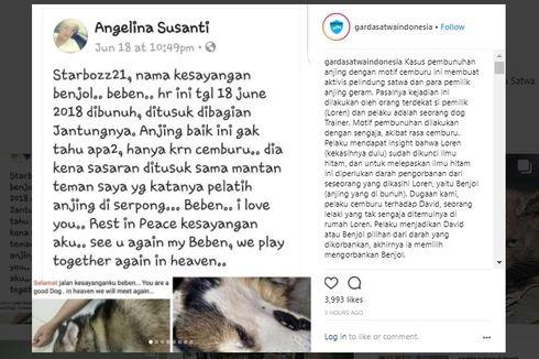 Viral Seorang Pria Diduga Bunuh Anjing Kesayangan Mantan Kekasihnya