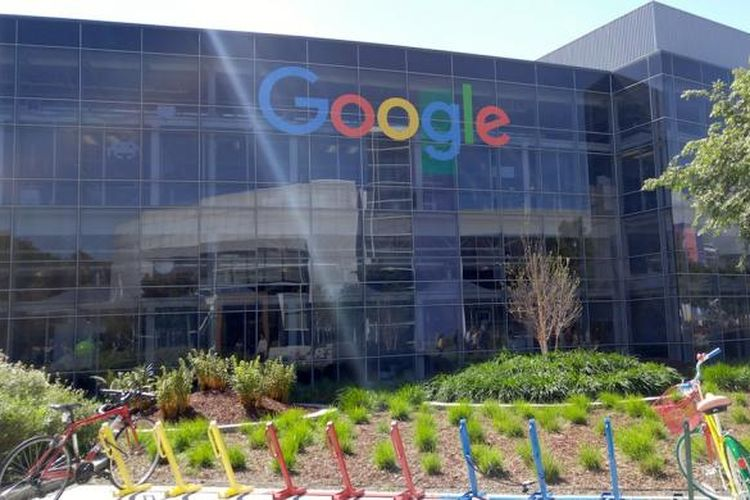 Googleplex, kantor pusat Google yang beralamatkan di 600 Amphitheatre Parkway, Mountain View, Santa Clara County, California, Amerika Serikat. Foto di ambil Selasa (22/3/2016)