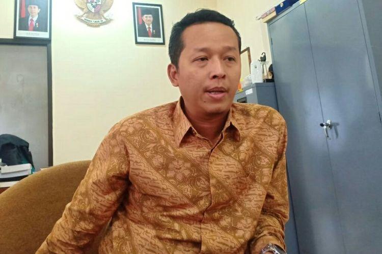 Ketua KPU DIY Hamdan Kurniawan, saat menyampaikan jumlah petugas KPPS yang meninggal dunia