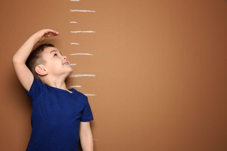 Ilustrasi stunting pada anak.