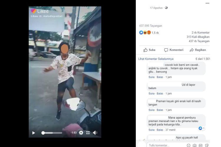 Sebuah video yang menampilkan seorang juru parkir tampak menendang dan diduga memeras pengendara motor di Medan, viral di media sosial.