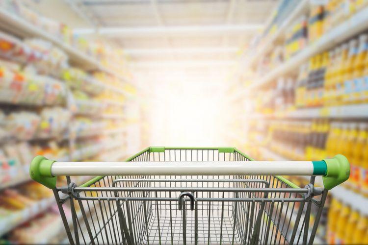 Ilustrasi belanja, ilustrasi supermarket