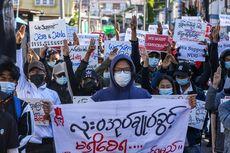 Demo Myanmar Terus Bergejolak, Massa Serukan