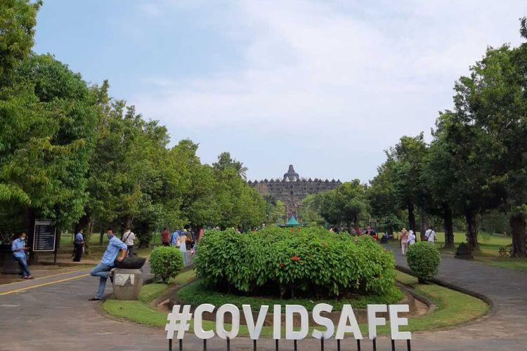 Taman Wisata Candi Borobudur, di Kabupaten Magelang, Jawa Tengah, dibuka lagi Selasa (18/5/2021), setelah ditutup pada libur Lebaran 8-17 Mei 2021.