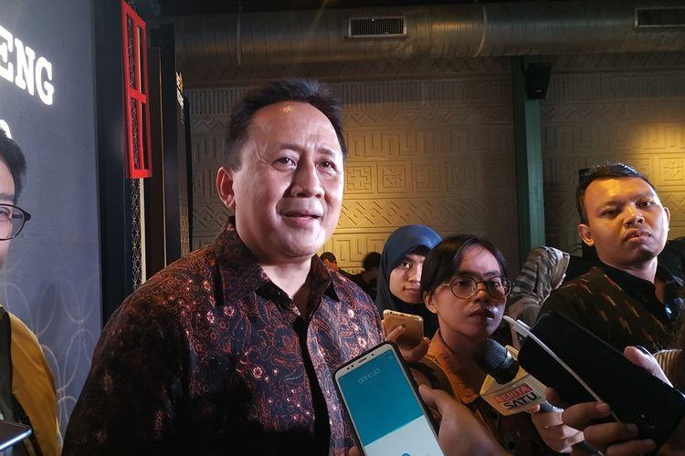 Badan Ekonomi Kreatif (Bekraf) Triawan Munaf memberikan keterangan terkait rencana pembangunan Bekraf Creative District (BCD) kepada awak media di Jakarta, Jumat (29/9/2019).