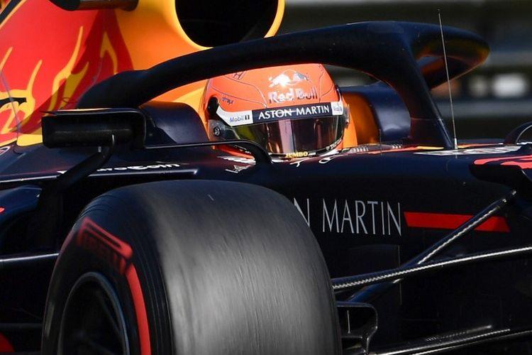 Pebalap Red Bull Racing, Max Verstappen, tengah menjalani sesi kualifikasi F1 GP Belgia di Sirkuit Spa-Francorchamps, 31 Agustus 2019.
