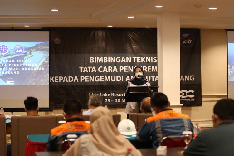 Bimbingan teknis pengemudi truk yang dilaksanakan BPTJ dan KNKT
