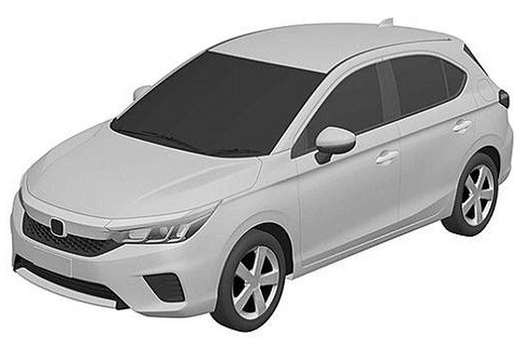 Sebuah gambar paten Honda City Hatchback