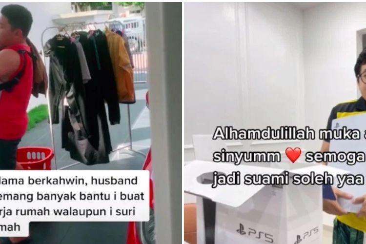 Seorang pengguna akun TikTok asal Malaysia bernama Adina Yusof membagikan momen memberikan kado PS5 kepada suaminya karena sudah membantunya pekerjaan rumah.