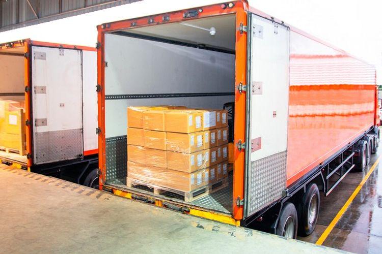 Ilustrasi truk logistik