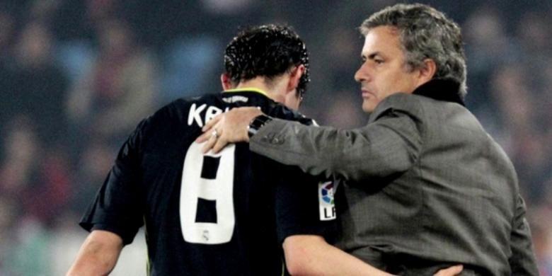 Ricardo Kaka (kiri) bersama Jose Mourinho ketika masih berada di Real Madrid.