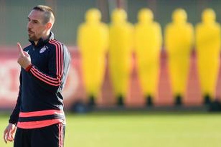 Gelandang Bayern Muenchen, Franck Ribery.