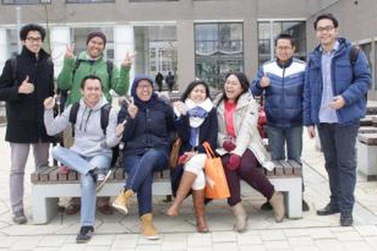 Para mahasiswa Indonesia di Erasmus University, Rotterdam, Rabu (4/3/2015).