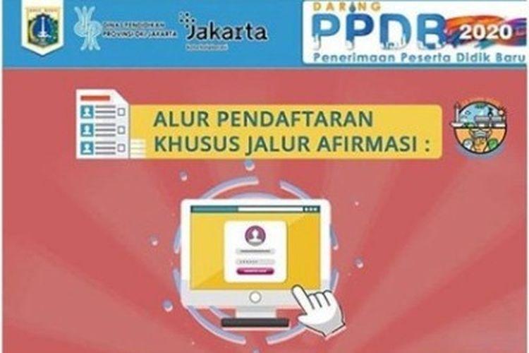 Info alur pendaftaran PPDB Jakarta jalur afirmasi.