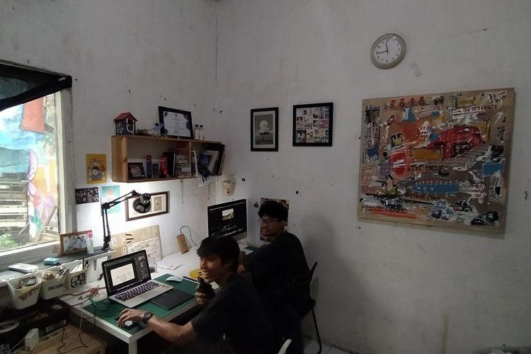 Ruang desain Semanggi Center Foundation Kota Tangerang, Kamis (2/7/2020).
